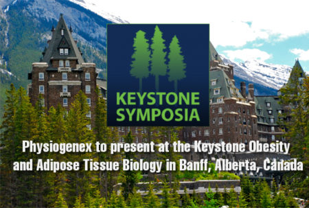 Physiogenex to present at the Keystone Obesity and Adipose Tissue Biology in Banff, Alberta, Canada