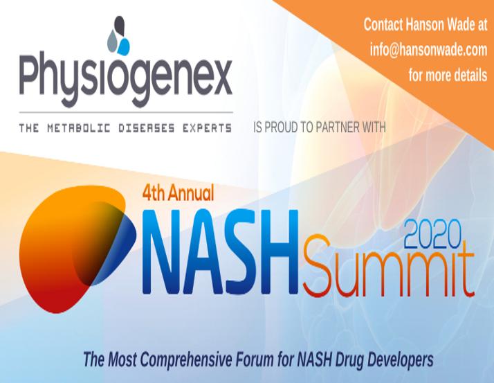 Physiogenex to present its NASH models at the Digital 4th Annual NASH Summit (Dec. 16-17, 2020)